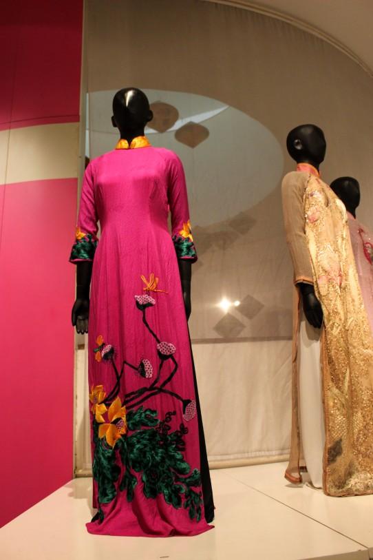 beautiful ao dais at the Women's Museum